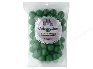 SweetWorks Celebration Gumballs 14 oz Stand Up Bag Green