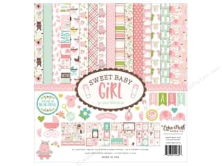 ribbon: Echo Park Sweet Baby Girl Collection Kit  12 in. x 12 in.