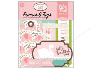 Echo Park Sweet Baby Girl Ephemera Frames & Tags