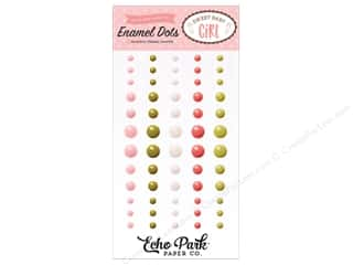 3-d adhesive: Echo Park Sweet Baby Girl Enamel Dots