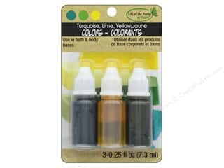 craft & hobbies: Life Of The Party Liquid Colors .75 oz Yellow Turquoise Lime