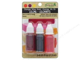 craft & hobbies: Life Of The Party Liquid Colors .75 oz Orange Wine Gold