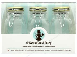 craft & hobbies: American Crafts Sweet Tooth Fairy Jars Gold Lid 3 pc