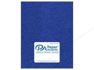 Paper Accents Glitter Cardstock 8 1/2 in. x 11 in. 85 lb Jewel Blue 5 pc