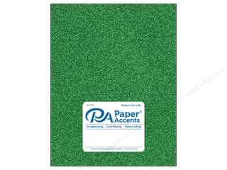 Paper Accents Glitter Cardstock 8 1/2 in. x 11 in. 85 lb Green 5 pc
