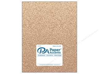 Paper Accents Glitter Cardstock 8.5 in. x 11 in.  85 lb Sand 5 pc