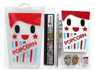 ruler: Blueprint Books Tokidoki Popcorn Large Stationery Set