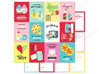 scrapbooking & paper crafts: Doodlebug So Punny Paper 12 in. x 12 in. My Punny Valentine (25 pieces)