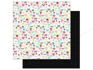 "White cardstock: Doodlebug So Punny Paper 12""x 12"" Gummi A Kiss (25 pieces)"