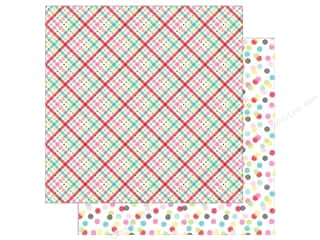 scrapbooking & paper crafts: Doodlebug So Punny Paper 12 in. x 12 in. Plaid About You (25 pieces)