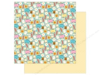 Clearance: Doodlebug So Punny Paper 12 in. x 12 in. Waffley Cute (25 pieces)