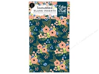 Echo Park Collection Travelers Notebook Fancy Flora Notebook Insert Blank