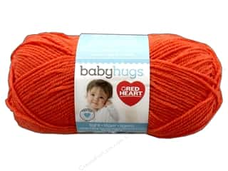 Clearance: Red Heart Baby Hugs Light Yarn 247 yd. #3255 Orangie