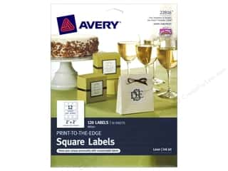 Avery Print-To-The Edge Square Labels 2 in. White 120 pc.