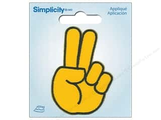 Simplicity Applique Iron On Peace Emoji