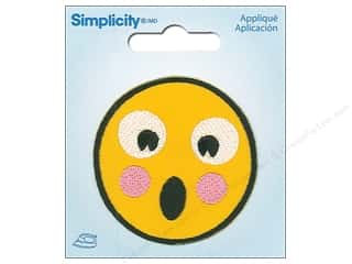 Simplicity Applique Iron On Shocked Emoji