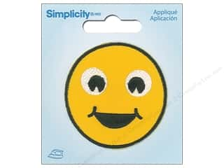 Simplicity Applique Iron On Happy Emoji