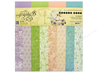 Graphic 45 12 x 12 in. Paper Pad Fairie Dust Patterns & Solids