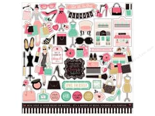 fashionista: Echo Park Fashionista Sticker 12 in. x 12 in. (15 pieces)