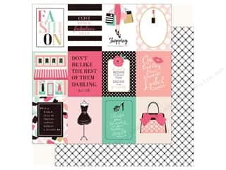 fashionista: Echo Park Fashionista Paper 12 in. x 12 in.  Journal Card 3 in. x 4 in. (25 pieces)