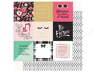 fashionista: Echo Park Fashionista Paper 12 in. x 12 in. Journal Card 4 in. x 4 in. (25 pieces)