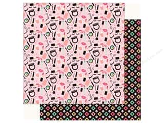 fashionista: Echo Park Fashionista Paper 12 in. x 12 in.  Make Up Time (25 pieces)