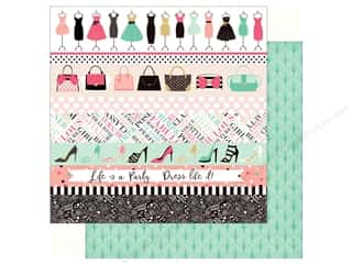 fashionista: Echo Park Fashionista Paper 12 in. x 12 in.  Border Strips (25 pieces)