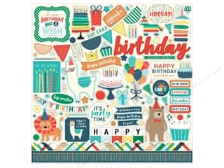 Echo Park Happy Birthday Boy Sticker 12 in. x 12 in. Element (15 pieces)