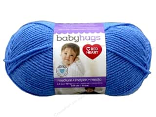 Clearance: Red Heart Baby Hugs Medium Yarn 247 yd. #4825 Bluie