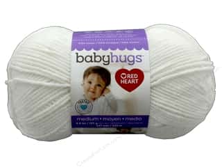yarn & needlework: Red Heart Baby Hugs Medium Yarn 247 yd. #4001 Frosting