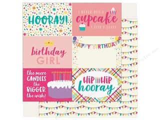 """Echo Park Happy Birthday Girls Paper 12 in. x 12 in. Journaling Cards 4""""x 6"""" (25 pieces)"""