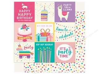 Echo Park Happy Birthday Girls Paper 12 in. x 12 in. Journaling Cards 4 in. x 4 in. (25 pieces)