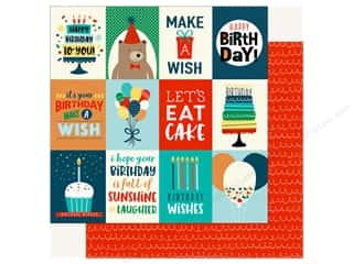 Echo Park Happy Birthday Boy Paper 12 in. x 12 in. Journaling Cards 3 in. x 4 in.