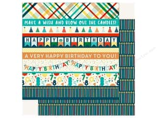 Echo Park Happy Birthday Boy Paper 12 in. x 12 in.  Border Strips
