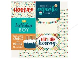 "Echo Park Happy Birthday Boy Paper 12""x 12"" Journaling Cards 4""x 6"""