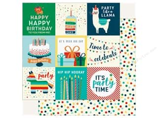 Echo Park Happy Birthday Boy Paper 12 in. x 12 in. Journaling Cards 4 in. x 4 in.