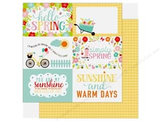 hello spring: Echo Park Hello Spring Paper 12 in. x 12 in. Journaling Cards 4 in. x 6 in. (25 pieces)