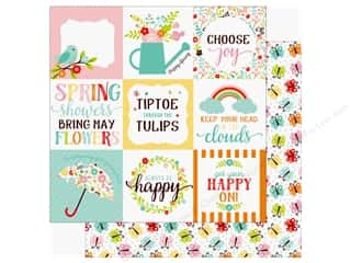 hello spring: Echo Park Hello Spring Paper 12 in. x 12 in. Journaling Cards 4 in. x 4 in. (25 pieces)