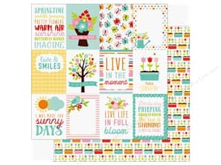 hello spring: Echo Park Hello Spring Paper 12 in. x 12 in. Journaling Cards 3 in. x 4 in. (25 pieces)