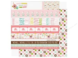 "scrapbooking & paper crafts: Echo Park Sweet Baby Girl Paper 12""x 12"" Border Strips (25 pieces)"