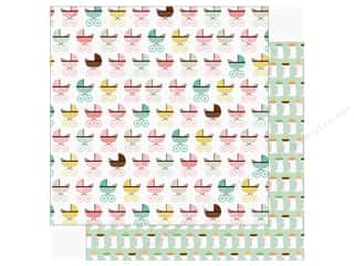 Echo Park Sweet Baby Girl Paper  12 in. x 12 in. Baby Buggy (25 pieces)