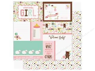 Echo Park Sweet Baby Girl Paper  12 in. x 12 in. Journaling Cards