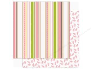 scrapbooking & paper crafts: Echo Park Sweet Baby Girl Paper  12 in. x 12 in. aby Ribbons (25 pieces)