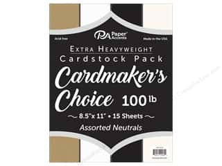 kraft: Paper Accents Cardstock 8.5 in. x 11 in. Cardmakers Choice 100 lb Neutrals 15 pc