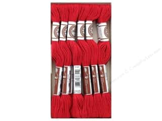 DMC Matte Cotton Embroidery Thread Red (12 skeins)