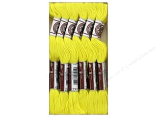 DMC Soft Matte Cotton Embroidery Thread 10.9 yd. Lemon (12 skeins)
