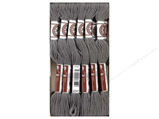 DMC Soft Matte Cotton Embroidery Thread 10.9 yd. Dark Beaver Gray (12 skeins)