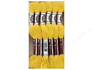 yarn: DMC Soft Matte Cotton Embroidery Thread 10.9 yd. Light Topaz (12 skeins)
