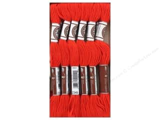 DMC Soft Matte Cotton Embroidery Thread 10.9 yd. Very Dark Burnt Orange (12 skeins)