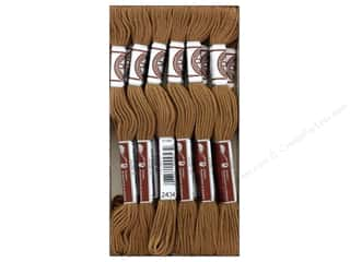 DMC Matte Cotton Embroidery Thread Lt Brown (12 skeins)